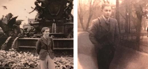 Zwei Fotos von Heinz Svensson im Park