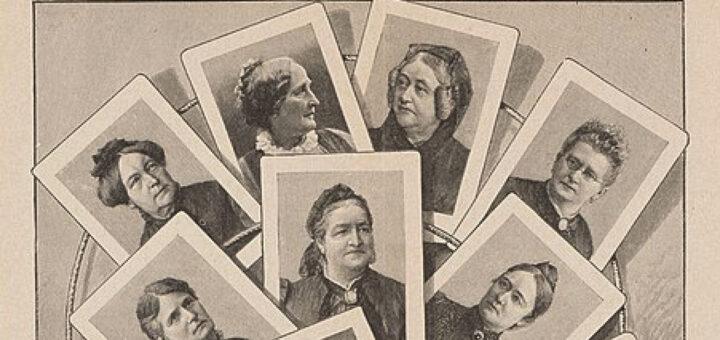 Collage mit Frauenportraits der Frauenbewegung
