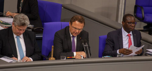 Thomas Seitz, Hans-Peter Friedrich, Karamba Diaby im Bundestag